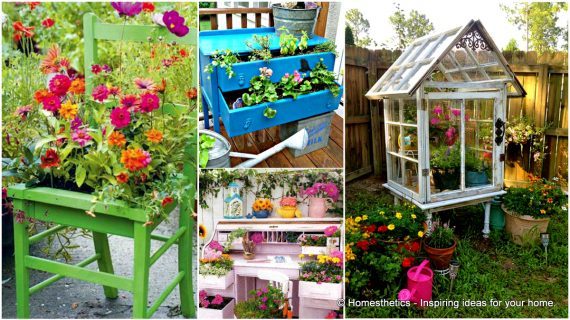 13 ιδέες δημιουργικής ανακύκλωσης των επίπλων σας για το σπίτι και το κήπο σας!