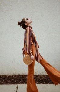 ρετρό τσάντα με αέρα δεκαετίας του