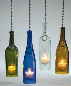 diy φωτιστικά από μπουκάλια