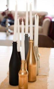 diy ιδέες για διακοσμητικά από μπουκάλια