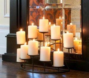 ιδέες κεριά ζεστασιά στο σπίτι