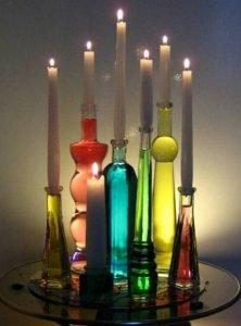 μοντέρνα διακόσμηση με κεριά