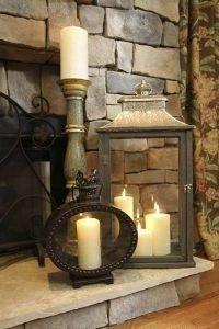 vintage διακόσμηση σπιτιού με κεριά και φανάρια