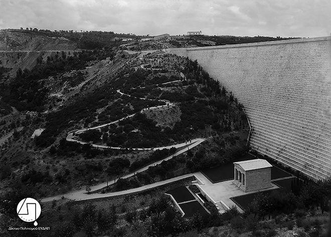 Άποψη του Φράγματος Μαραθώνα, π. 1930-1931 ΙΣΤΟΡΙΚΟ ΑΡΧΕΙΟ ΕΥΔΑΠ