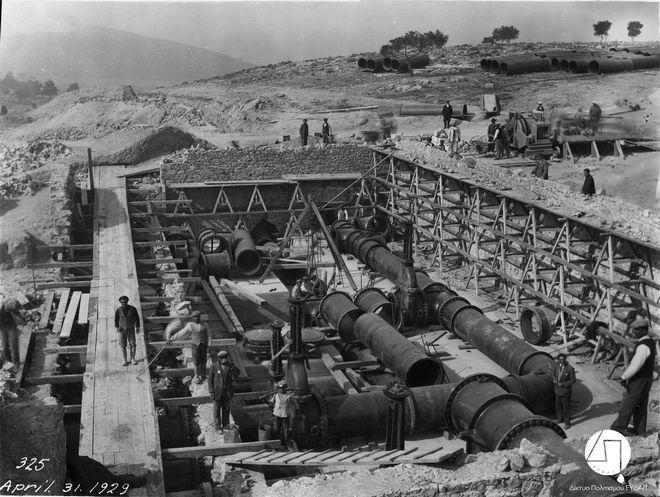 Κατασκευή υδαταποθήκης στο Γαλάτσι, 1929 ΙΣΤΟΡΙΚΟ ΑΡΧΕΙΟ ΕΥΔΑΠ