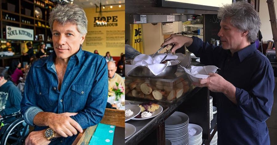 Jon Bon Jovi: Άνοιξε εστιατόρια για τους φτωχούς για τρώνε δωρεάν όσοι έχουν ανάγκη και τους σερβίρει ο ίδιος