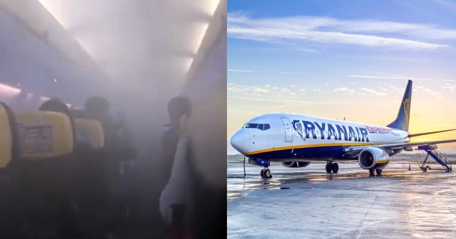 πανικός σε πτήση της Ryanair