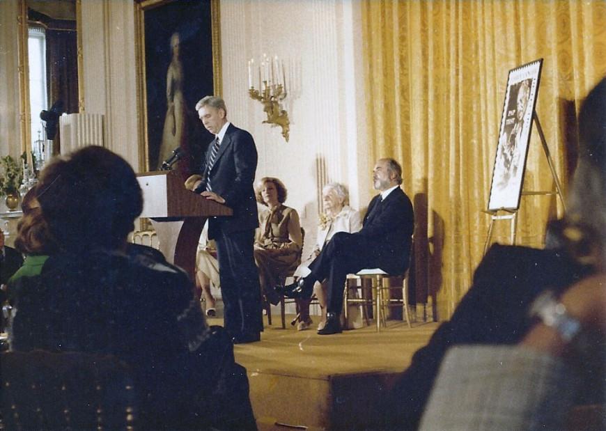 Από την τελετή στο Λευκό Οίκο για το Αμερικανικό Γραμματόσημο Παπανικολάου με την παρουσία της Μάχης Παπανικολάου
