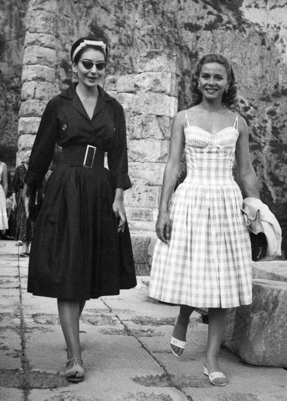 Η Τίνα Λιβανού με τη Μαρία Κάλλας στους Δελφούς