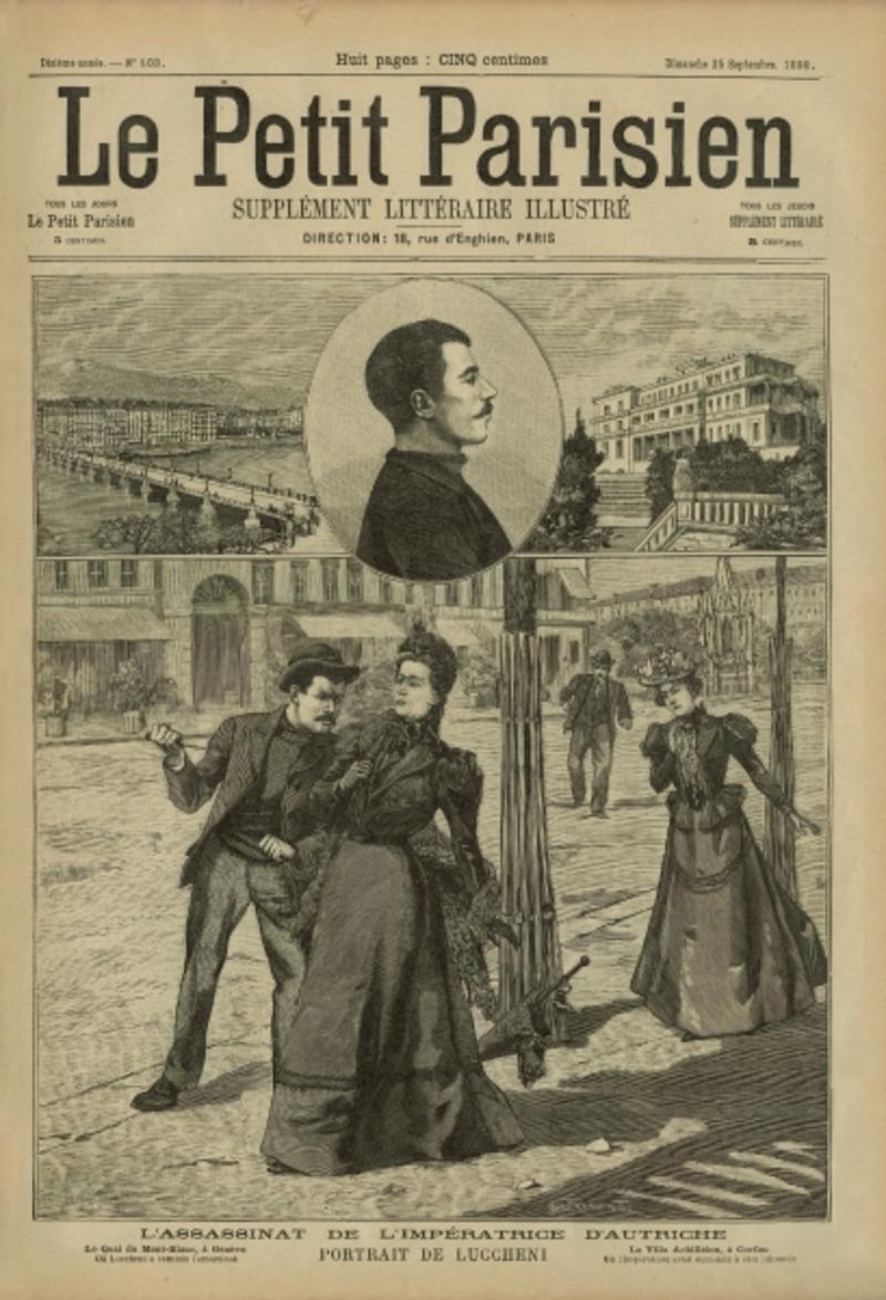 Εξώφυλλο της εποχής που αφορά στη δολοφονία της Σίσσυ