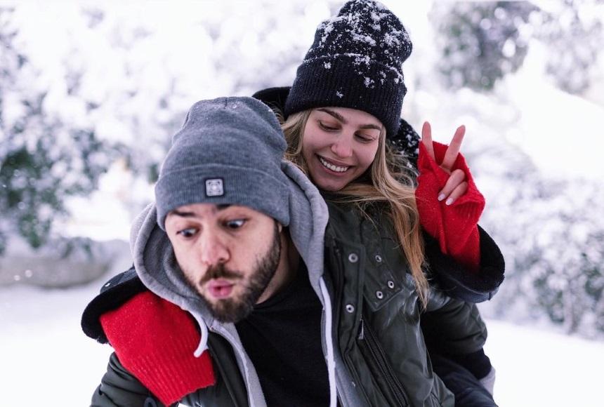 Παιχνίδι, από τους celebrities στα χιόνια.
