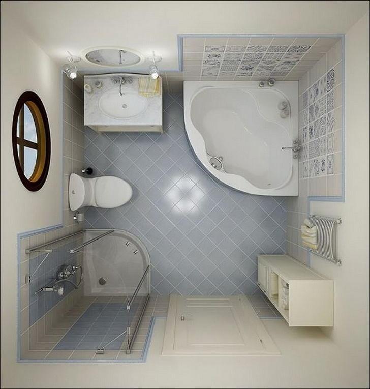 13 Ιδέες Διακόσμησης για μικρό μπάνιο