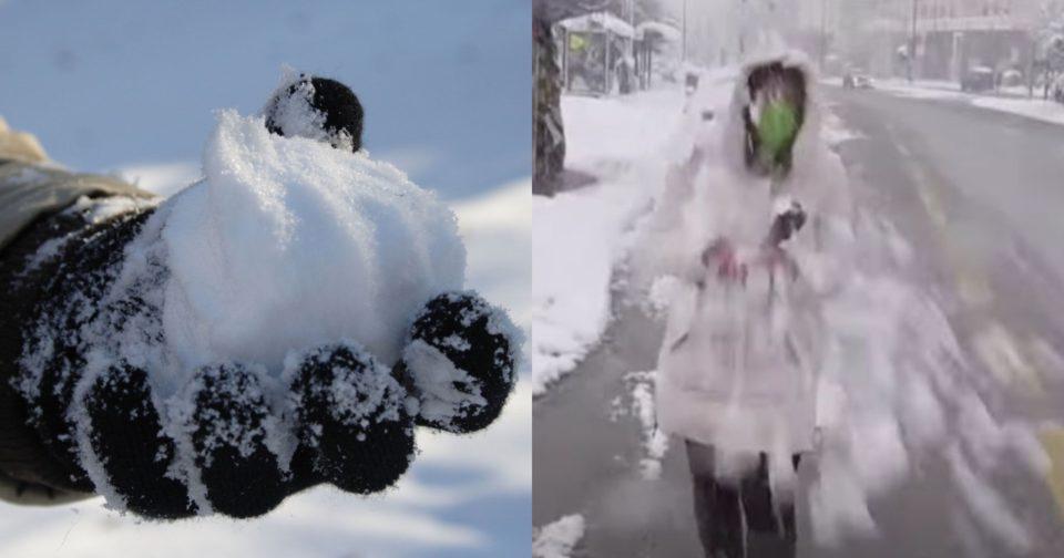 Επίθεση, με χιονόμπαλες σε ρεπόρτερ του «ΣΚΑΙ».