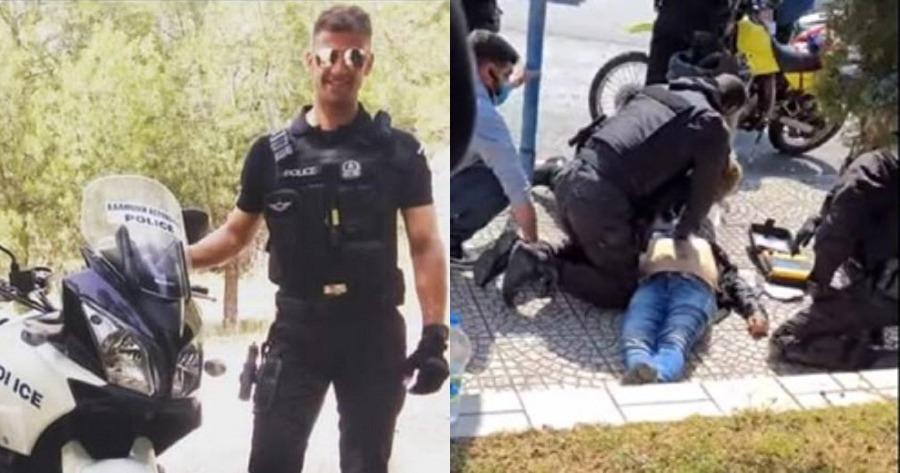 Η προσπάθεια του ήρωα αστυνομικού που έσωσε πολίτη που είχε χάσει τις αισθήσεις του.