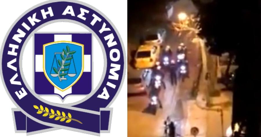 Η ανακοίνωση της Ελληνικής Αστυνομίας για το περιστατικό, με το παρκαρισμένο αυτοκίνητο στην Πανόρμου.