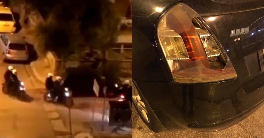 Διεξαγωγή έρευνας για τους αστυνομικούς που έσπασαν παρκαρισμένο αυτοκίνητο στην Πανόρμου.