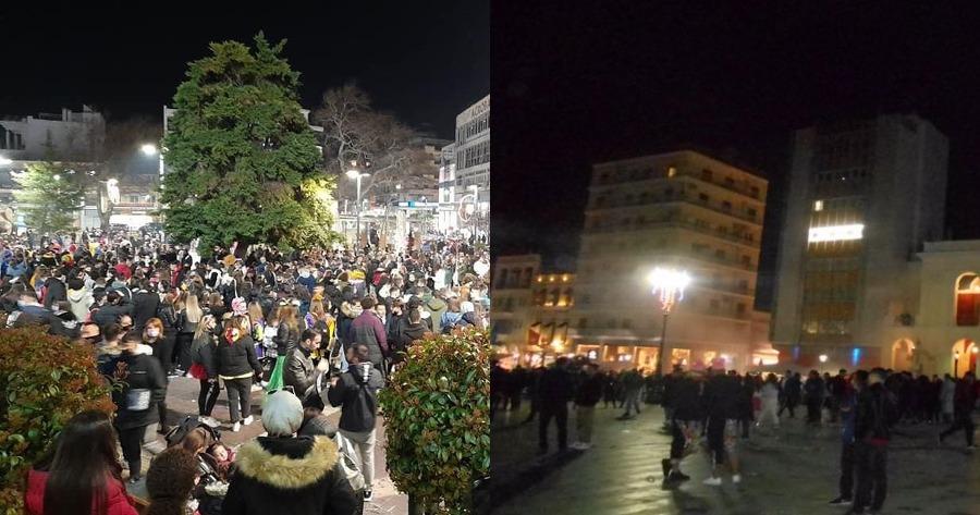 Κορωνοπάρτι στην πόλη της Πάτρας.