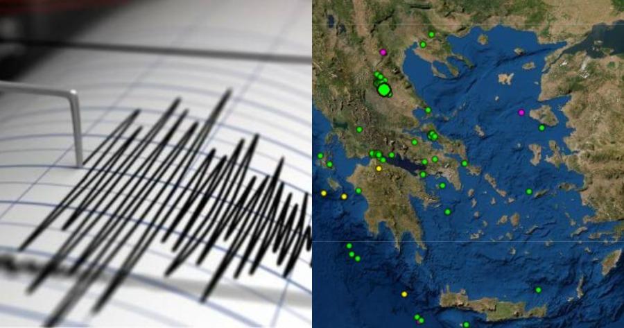 Σεισμική δόνηση 3,1 Ρίχτερ από σεισμό σε Λάρισα και Βόλο.