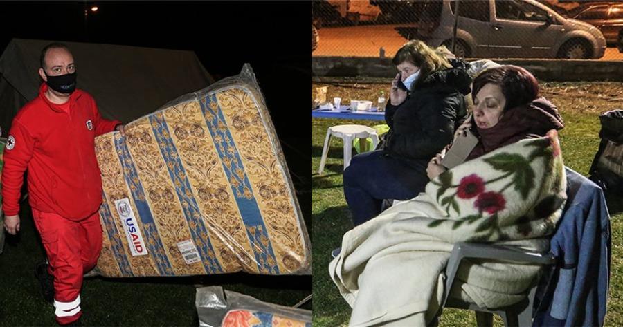 Κάτοικοι διανυκτέρευσαν σε ξενοδοχεία και σκηνές, λόγω του σεισμού στην Ελασσόνα.