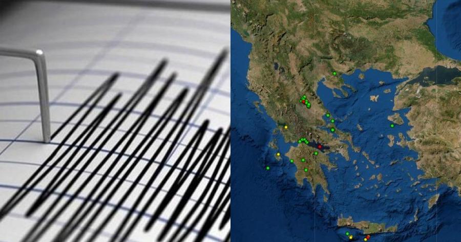 Σεισμική δόνηση 3,3 Ρίχτερ ήταν η ένταση του σεισμού στην Ελασσόνα.