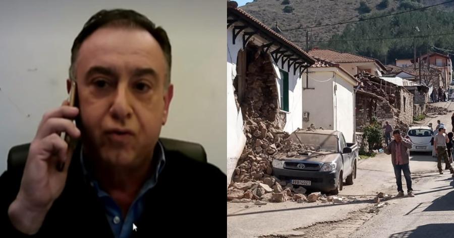 Η αντίδραση του βουλευτή της ΝΔ κατά το σεισμό στην Ελασσόνα.