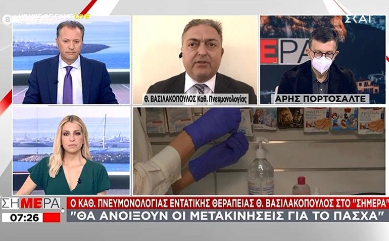 Δηλώσεις Θεόδωρου Βασιλακόπουλου: Θα επιτρέπονται οι μετακινήσεις από νομό σε νομό για το Πάσχα.