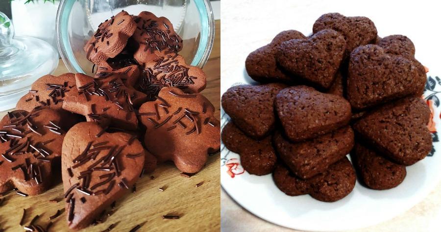 Μπισκότα σοκολάτας με 4 υλικά