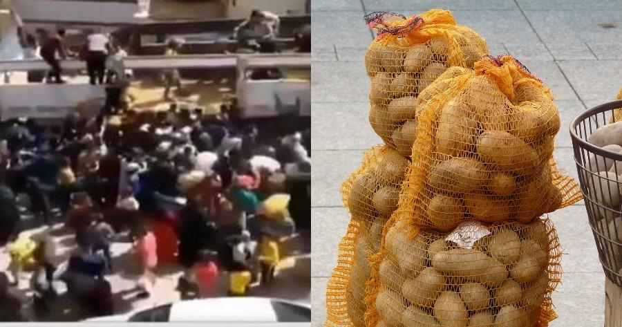 Περιστατικό συνωστισμού στην Τουρκία για ένα δωρεάν σακί με πατάτες.