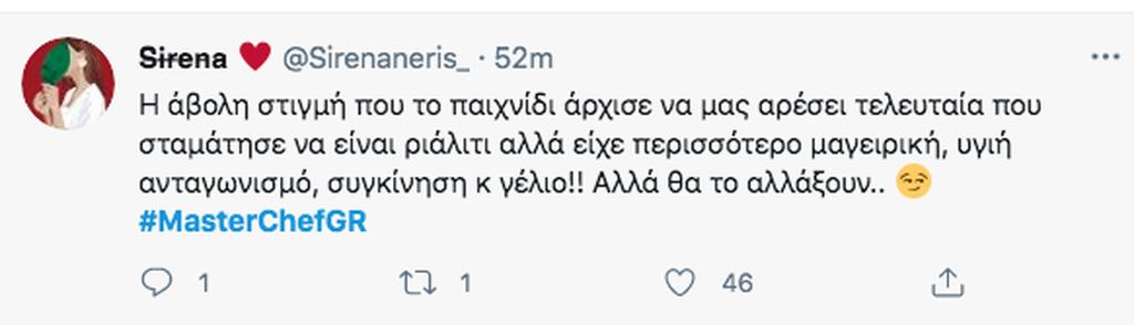 MasterChef 5 Tweets
