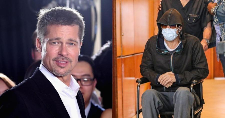 Υπόθεση Μπραντ Πιτ: Σε αναπηρικό αμαξίδιο, ο γνωστός ηθοποιός.
