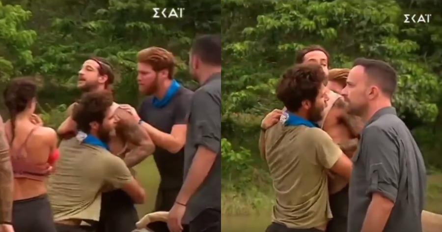 Χαμός στο Survivor: Ο κακός χαμός με τους Αλέξη Παππά και Ηλία Μπογδάνο.