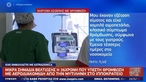 36χρονη έπαθε θρόμβωση στη Λέσβο.