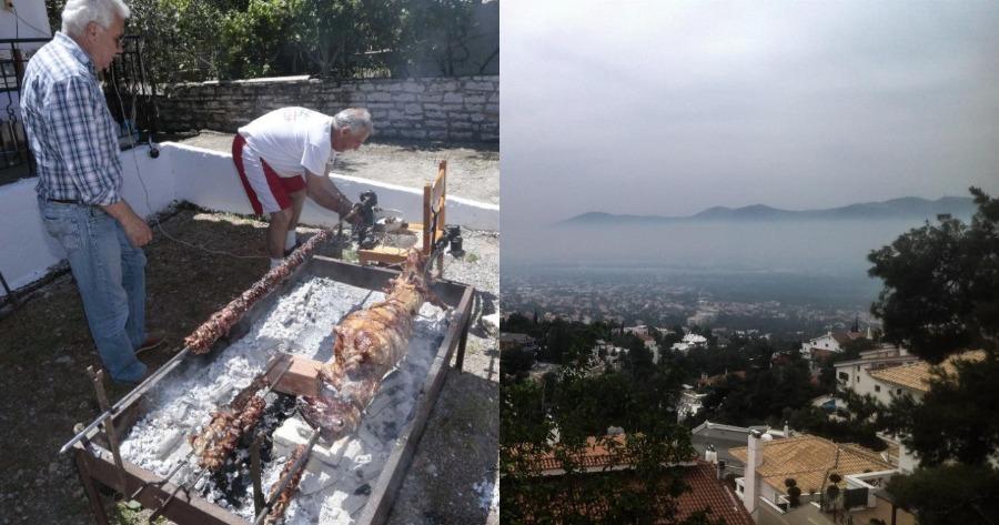 Περίπτωση Αθήνας: Νέφος τσίκνας σκέπασε την πρωτεύουσα