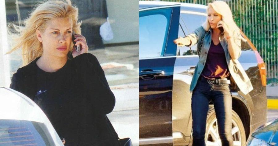 Άφιξη και αναχώρηση Ελένης Μενεγάκη: Πήγε και έφυγε με διαφορετικό αμάξι από τα γραφεία του «Mega».