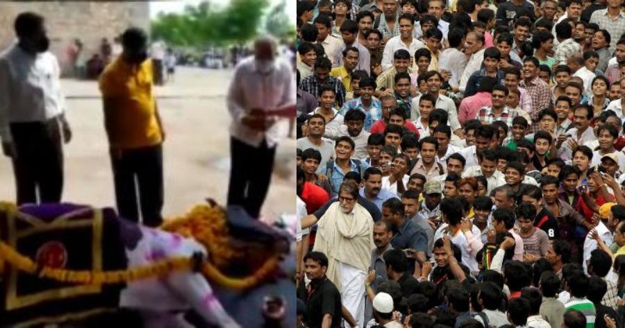 Κηδεία αλόγου στην Ινδία