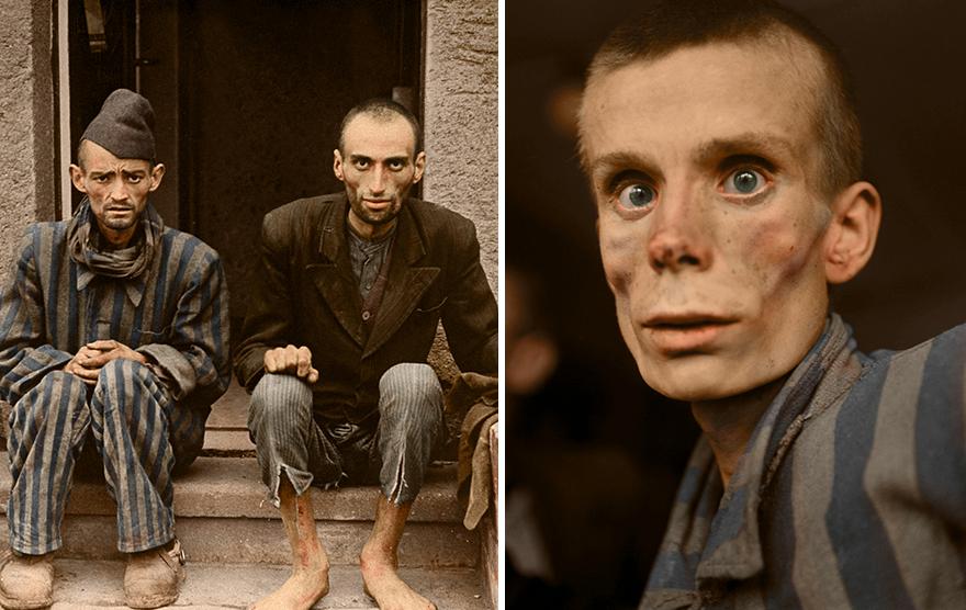 Ολοκαύτωμα Εβραίων επιχρωματισμένες φωτογραφίες
