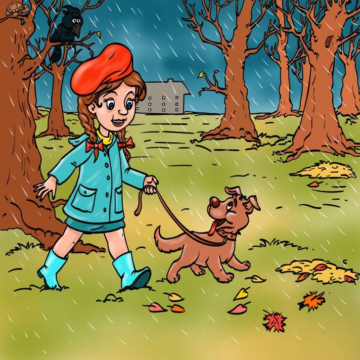 Τεστ παρατηρητικότας κοπελίτσα στο δάσος
