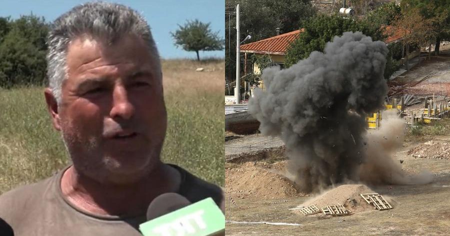 Βοσκός: Σώθηκε από θαύμα για το στρατιωτικό βλήμα.