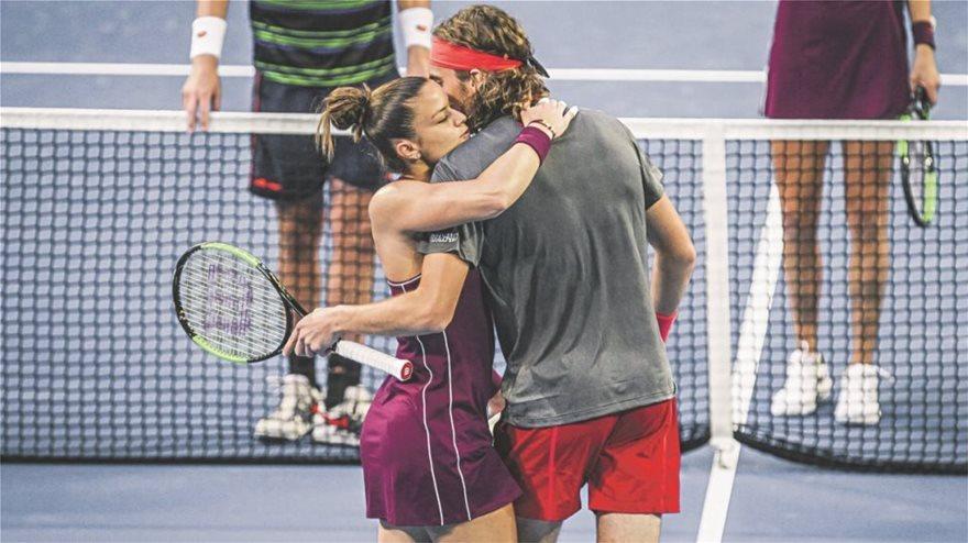 Μαρία Σάκκαρη και Στέφανος Τριτσιπάς στους 4 του Roland Garros