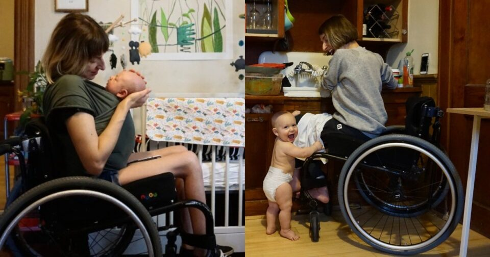 Ανάπηρη γυναίκα έγινε μαμά