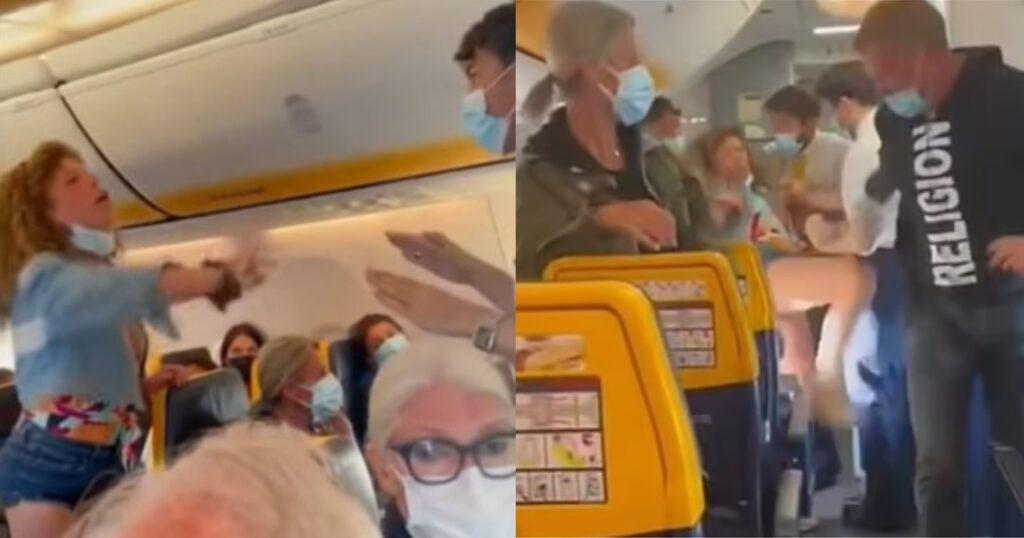 Χαμός σε πτήση: Γυναίκα έβριζε, κλώτσαγε και έφτυνε όποιον ήταν μπροστά της  επειδή της είπαν να βάλει μάσκα