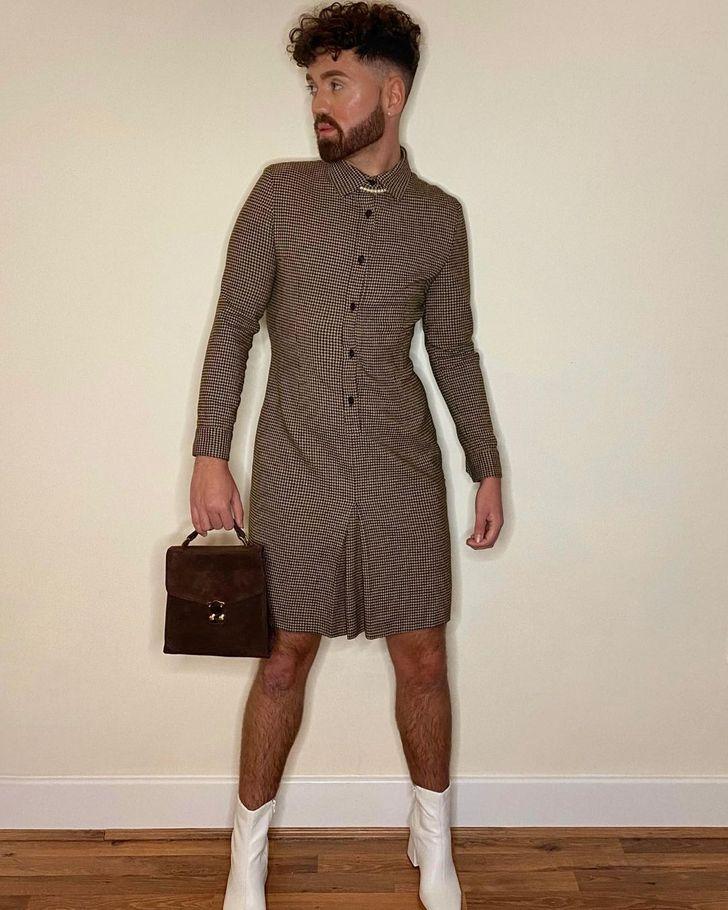άντρας με φόρεμα