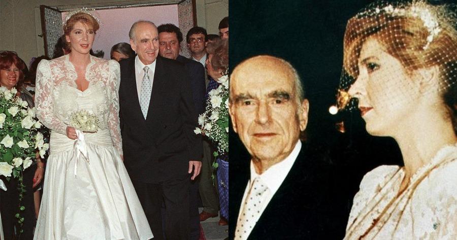 Μπομπονιέρα γάμου Ανδρέα Παπανδρέου και Δήμητρας Λιάνη