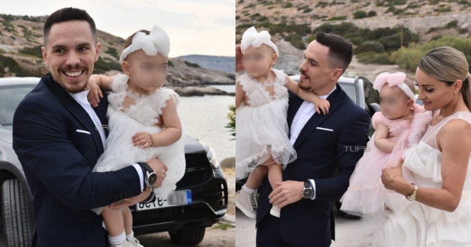 Λευτέρης Πετρούνιας – Βασιλική Μιλλούση: Φωτογραφίες από τη βάπτιση των παιδιών τους