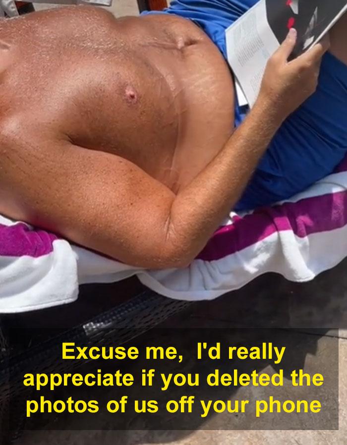 ανατριχιαστικό άντρα στην πισίνα