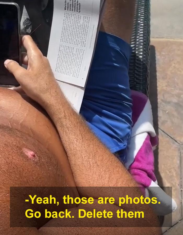 ανατριχιαστικό άντρα τραβά κρυφά φωτογραφίες
