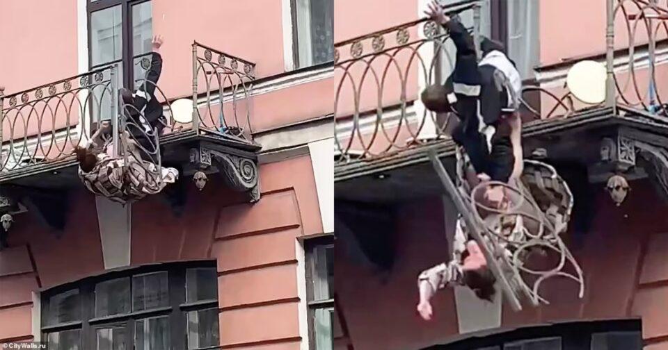 Ρωσία μπαλκόνι καταρρέει