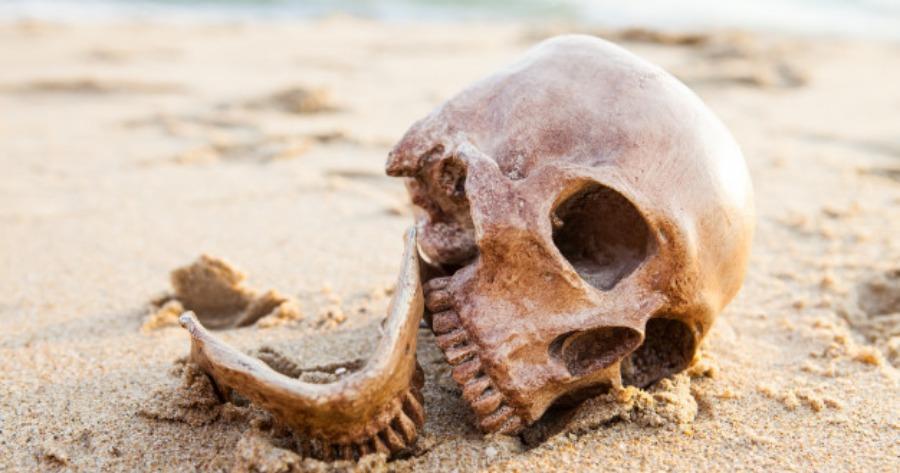 ανθρώπινο κρανίο στην Κρήτη