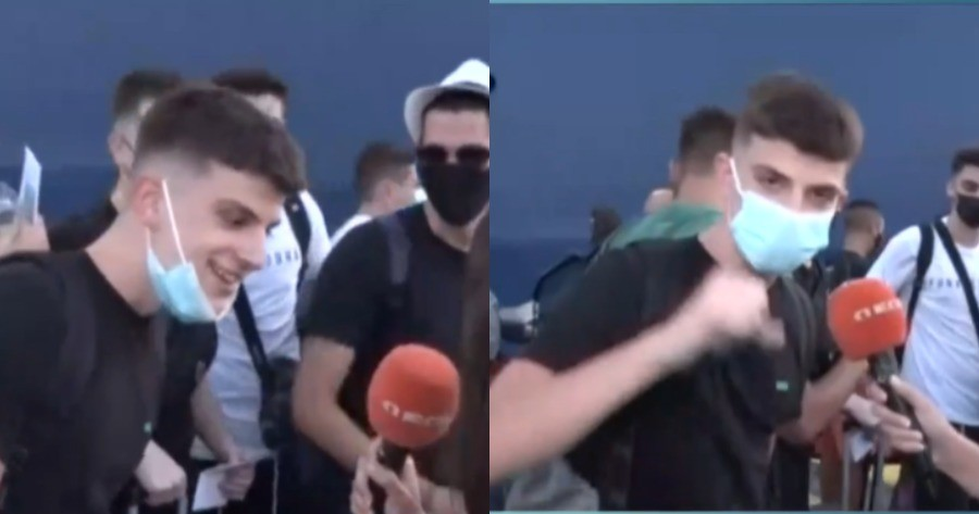 Νεαρός δίνει ρεσιτάλ στο λιμάνι του Πειραιά,