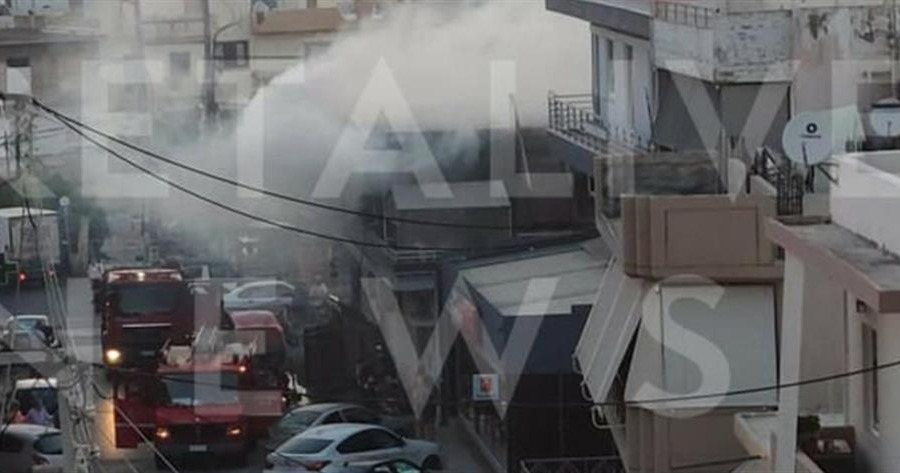 Φωτιά σε διαμέρισμα στο Ηράκλειο
